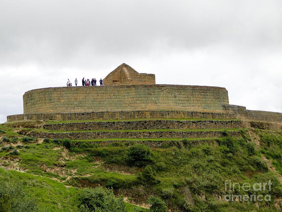 Canadian Photograph - Ingapirca Inca Ruins   Ecuador by Al Bourassa
