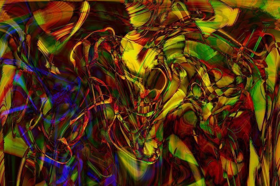 Abstract Digital Art - Injections by Linda Sannuti