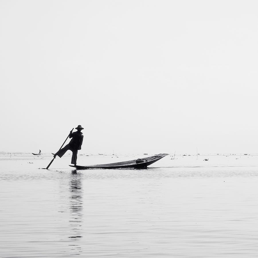 Birma Photograph - Inle Fisher by Nina Papiorek