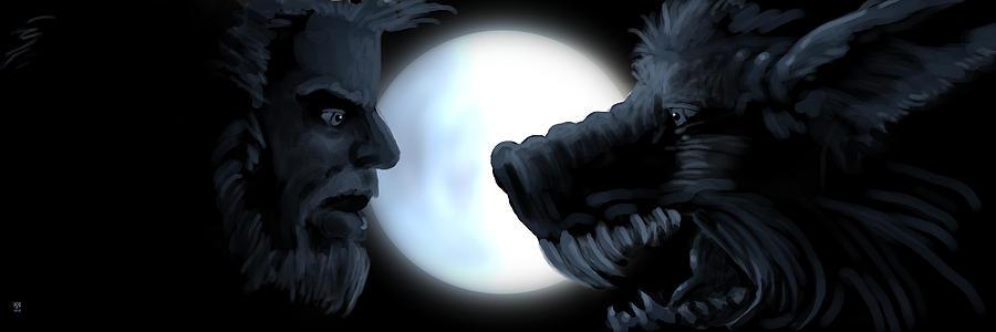 Halloween Digital Art - Inner Conflict by William McDonald