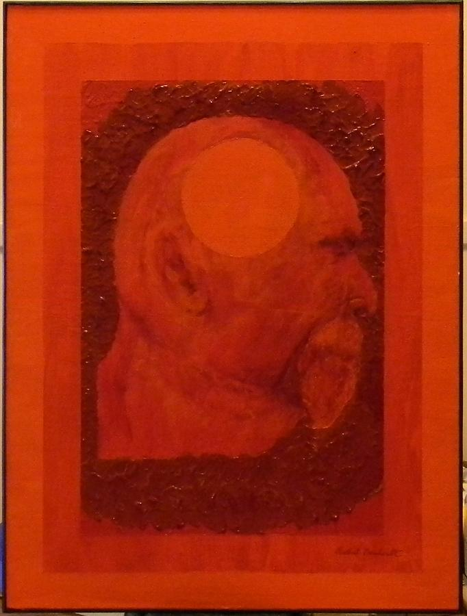 Self Portrait Painting - Inner Space Or The Dot Within by Gilbert Bernhardt