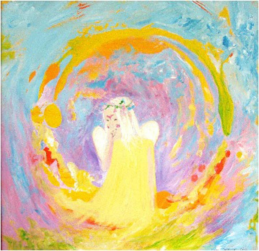 Dolphins Painting - Innocence by Tamara Tavernier