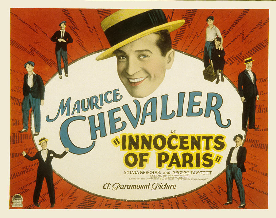 1920s Movies Photograph - Innocents Of Paris, Maurice Chevalier by Everett