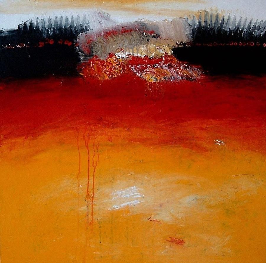 Painting Painting - Inside by Jorgen Rosengaard