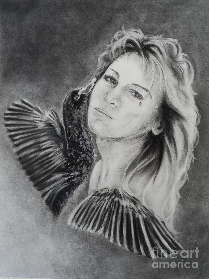 Portrait Drawing - Inside Out by Carla Carson