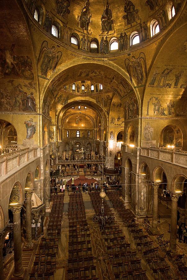 Color Image Photograph - Inside San Marcos Basilica by Jim Richardson