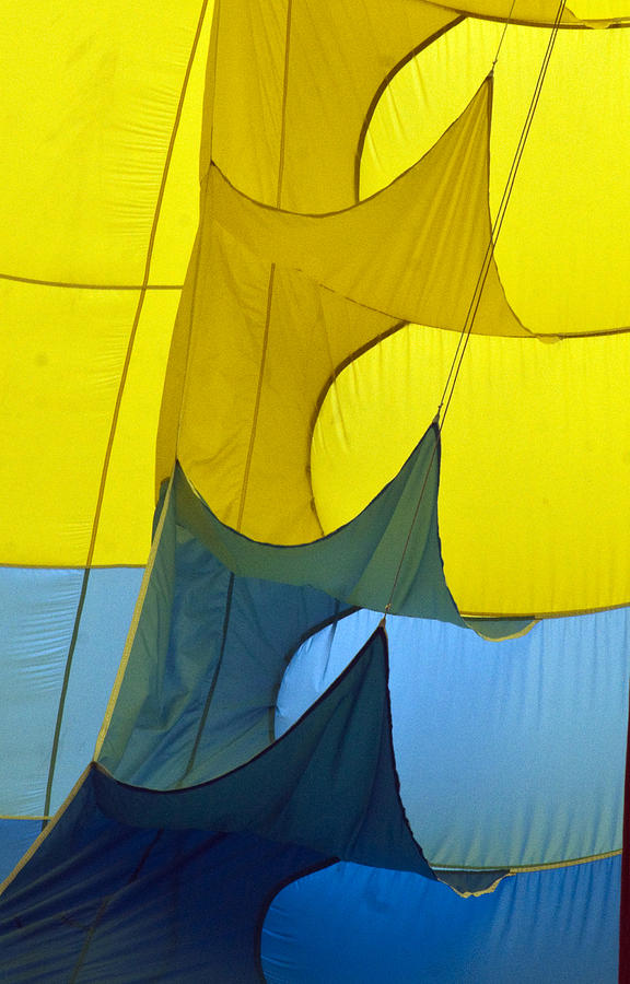 Yellow Photograph - Inside The Balloon by Darleen Stry