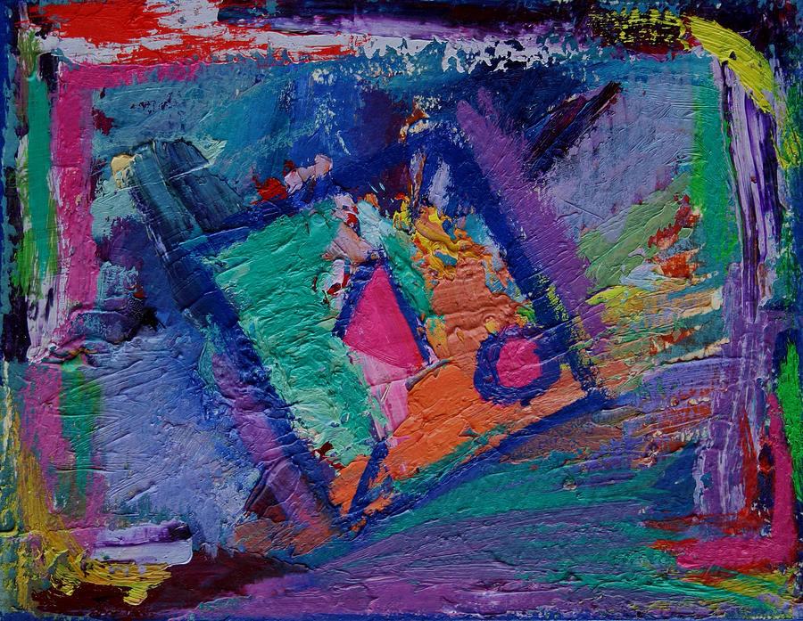 Abstract Painting - Inside The Box by Karin Eisermann