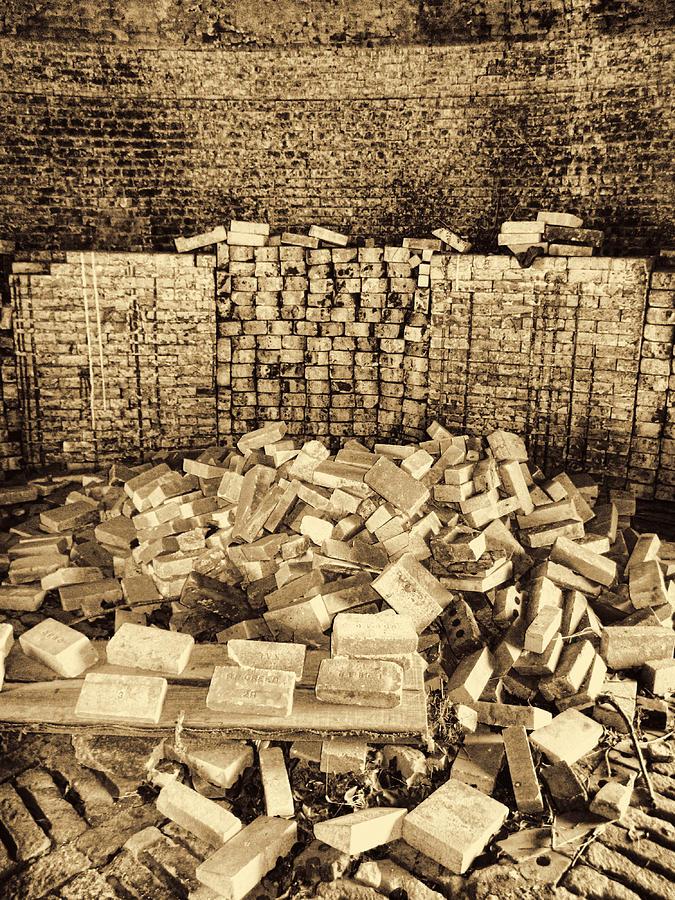 Brick Kiln Photograph - Inside The Historical Brick Kiln Decatur Alabama Usa by Kathy Clark