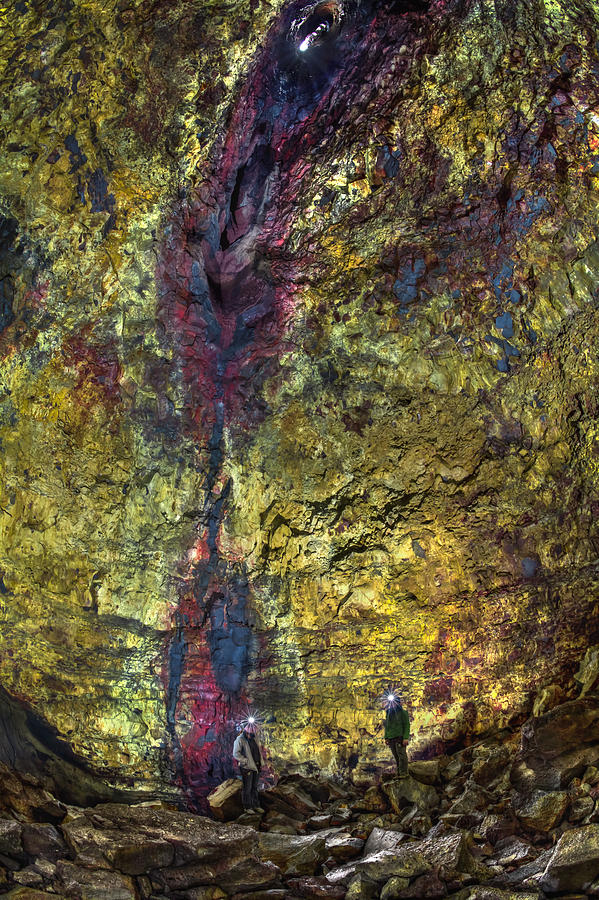 Iceland Photograph - Inside The Volcano by Evelina Kremsdorf