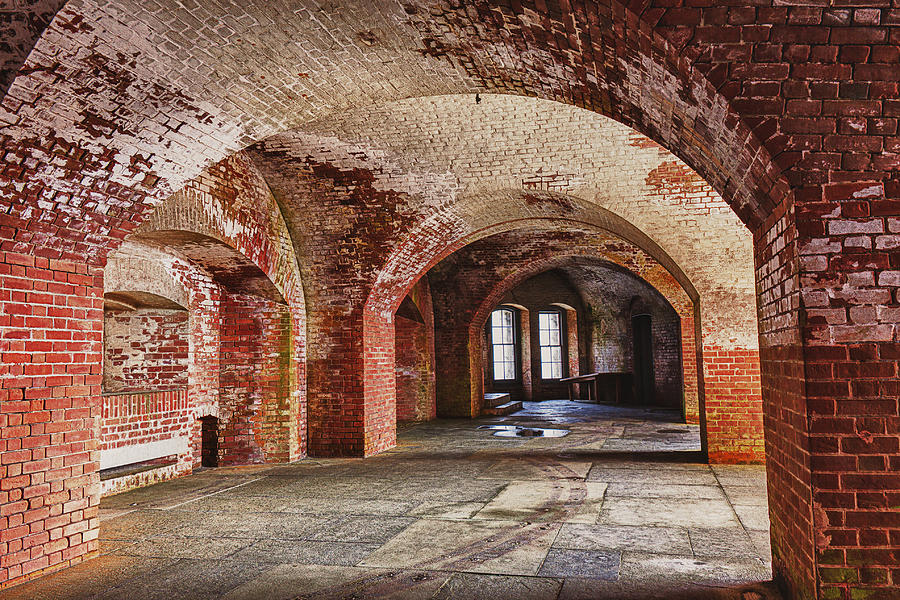 Arch Photograph - Inside The Walls by Garry Gay