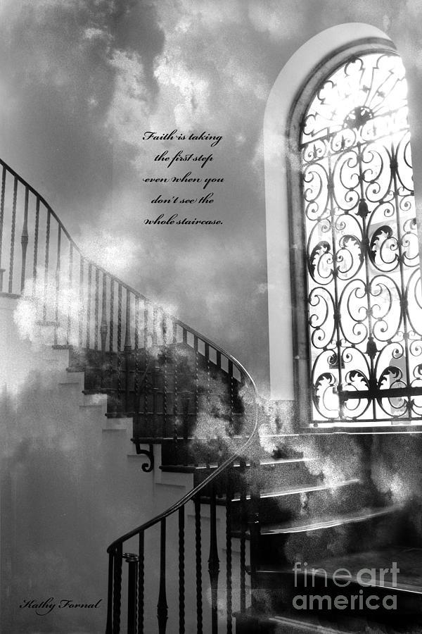 Inspirational Black Art : Inspirational black white surreal art print photograph by