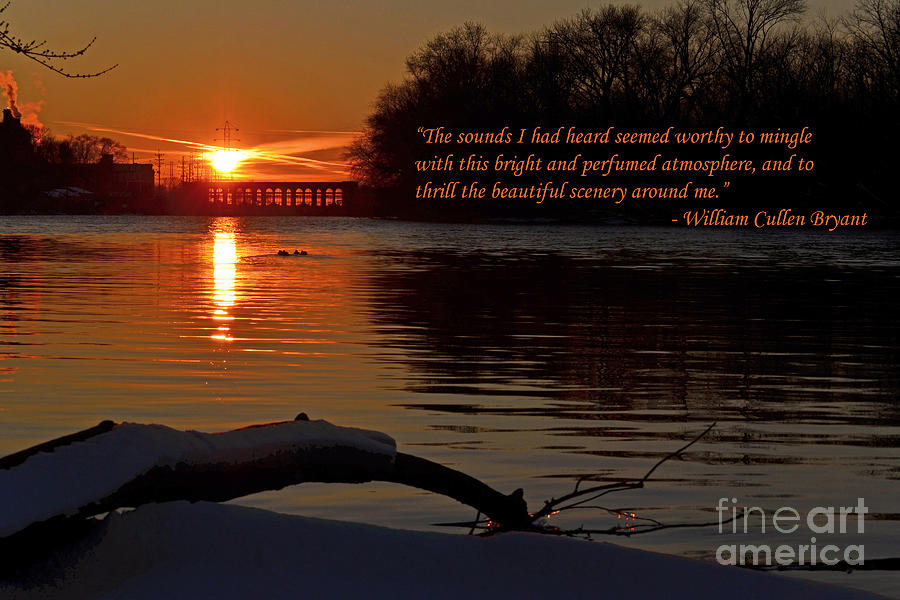 Color Photography Photograph - Inspirational Sunset With Quote by Sue Stefanowicz