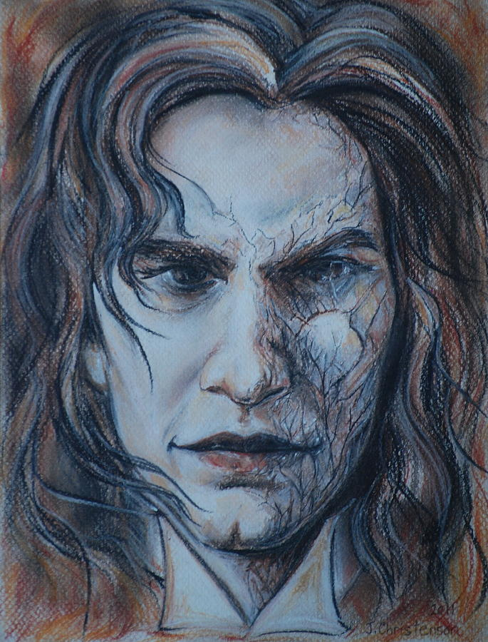 Novel Drawing - Inspired By Dorian Gray by Jennifer Christenson