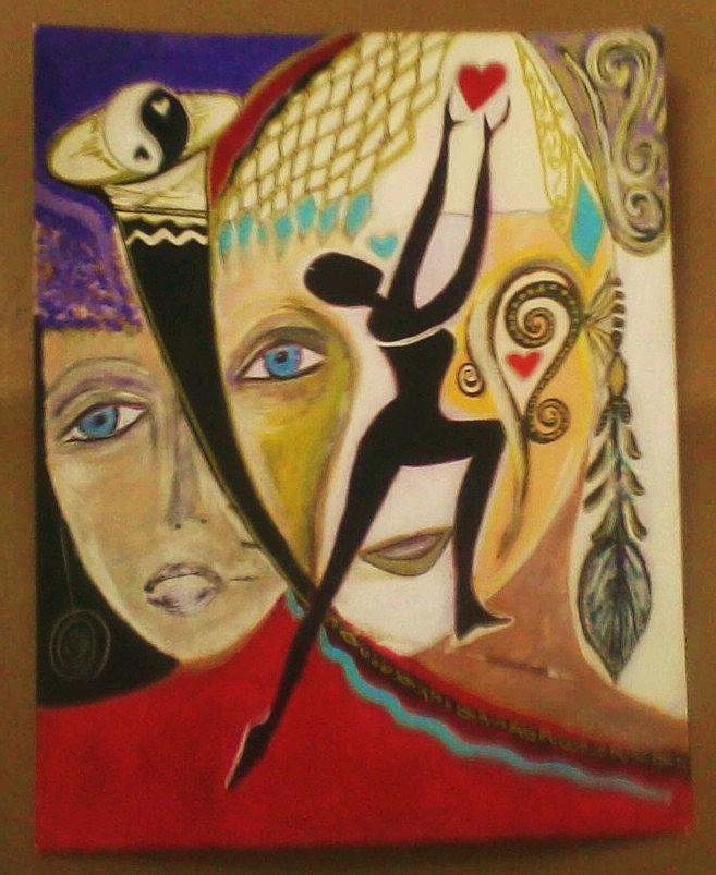 Instal Painting - Install Love by Crystalin Ian