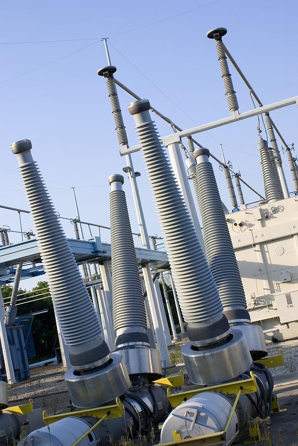 Batavia Photograph - Insulators At Electricity Substation by Mark Williamson