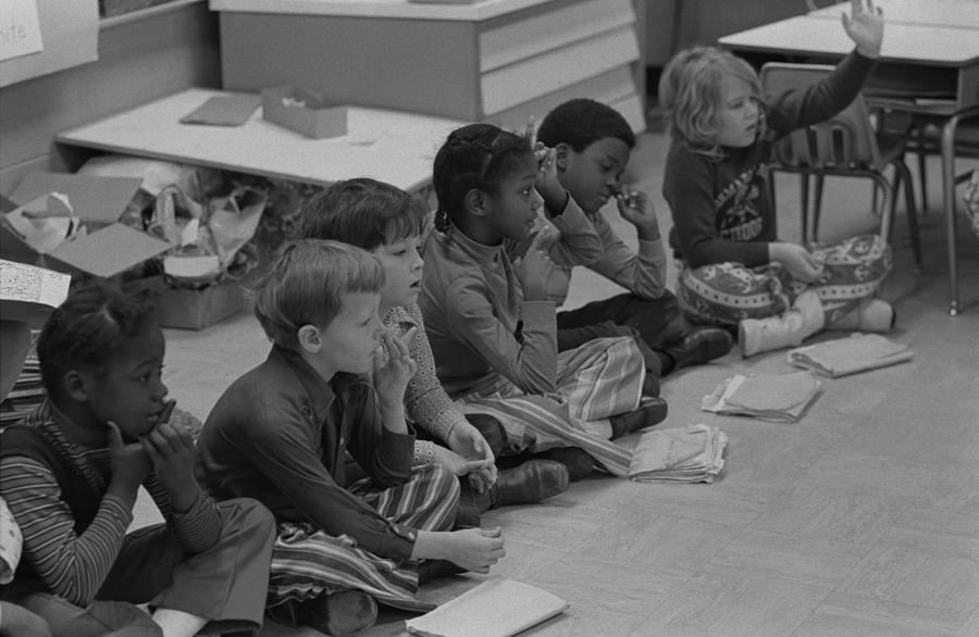 History Photograph - Integrated First Grade Class Of African by Everett