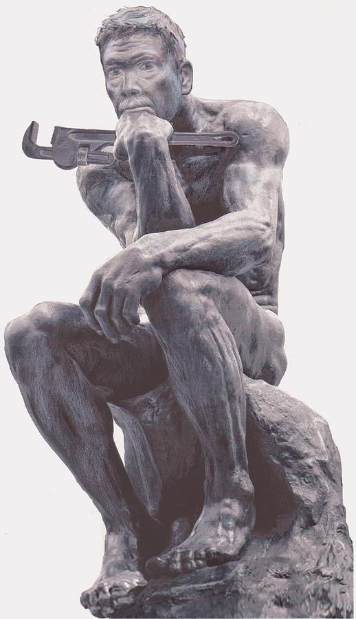 The Thinker Mixed Media - Intellectual Handyman by Gary Peterson