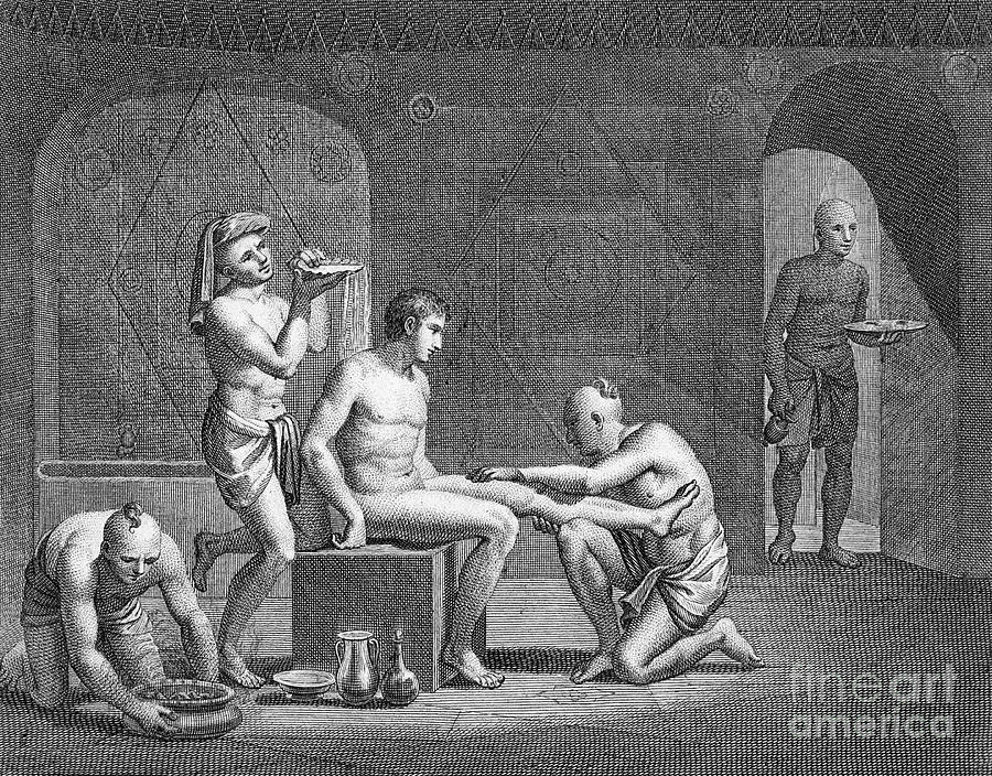 African Photograph - Interior Of Egyptian Bath by Granger