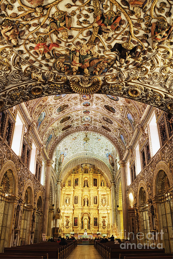 Arch Photograph - Interior Of The Church Of Santo Domingo by Jeremy Woodhouse