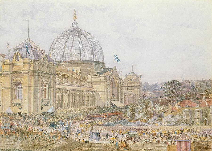 Building Painting - International Exhibition by Edward Sheratt Cole