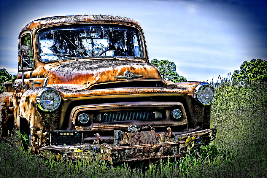 Old Photograph - International Truck Alone And Rusting by William Havle