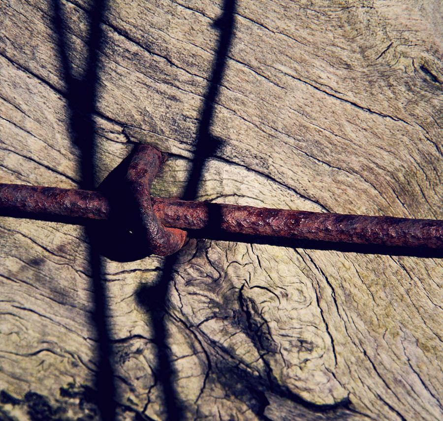 Wire Photograph - Interstate by Odd Jeppesen