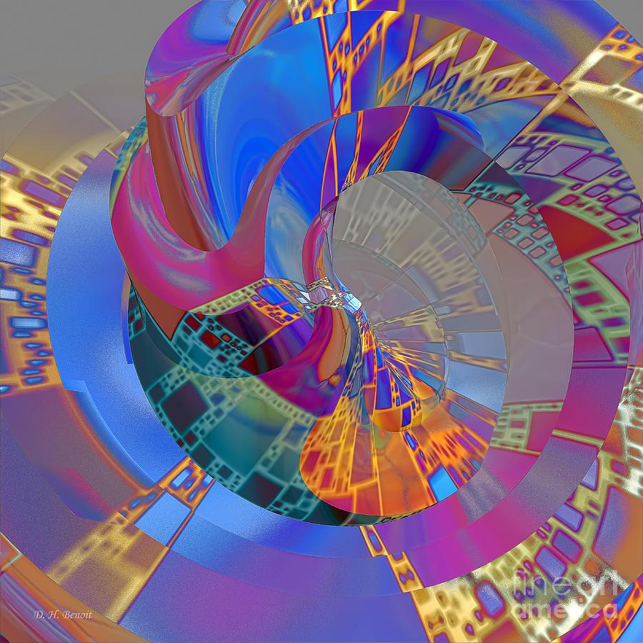 Abstract Digital Art - Into The Inner World by Deborah Benoit