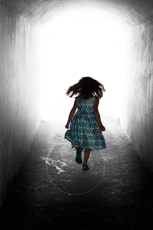 Girl Photograph - Into The Light by Matt Dobson