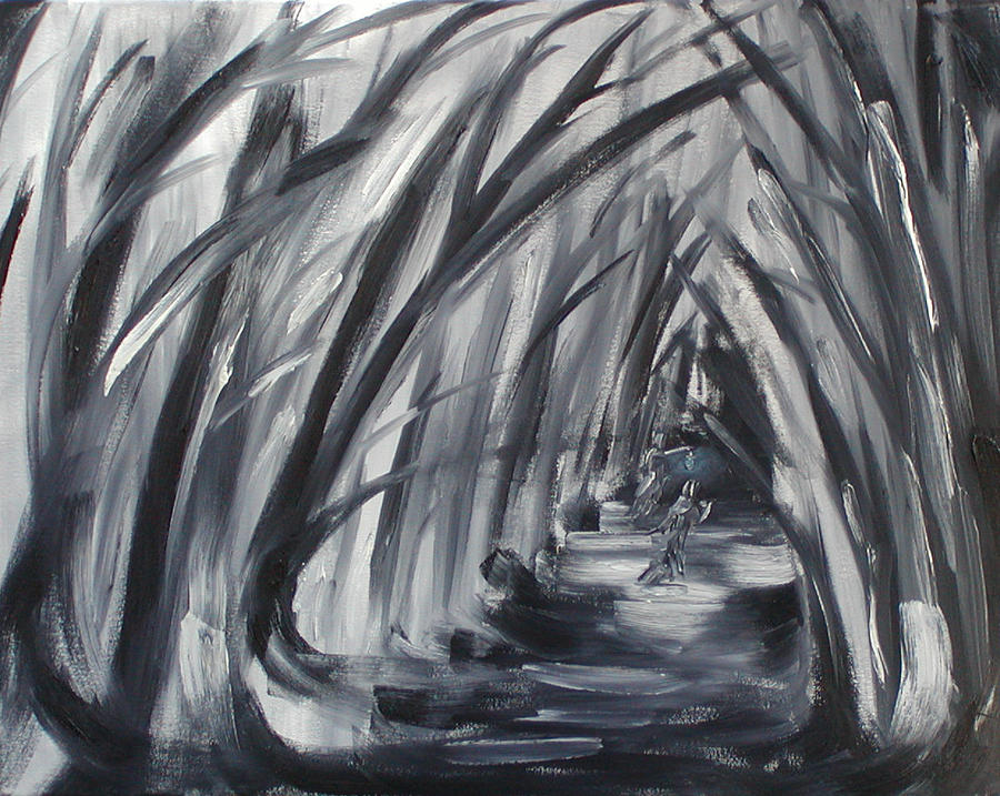 Into The Nighttime Woods Painting By Patricia Frankel