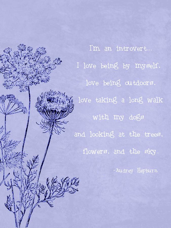 Introvert Digital Art By Tia Helen