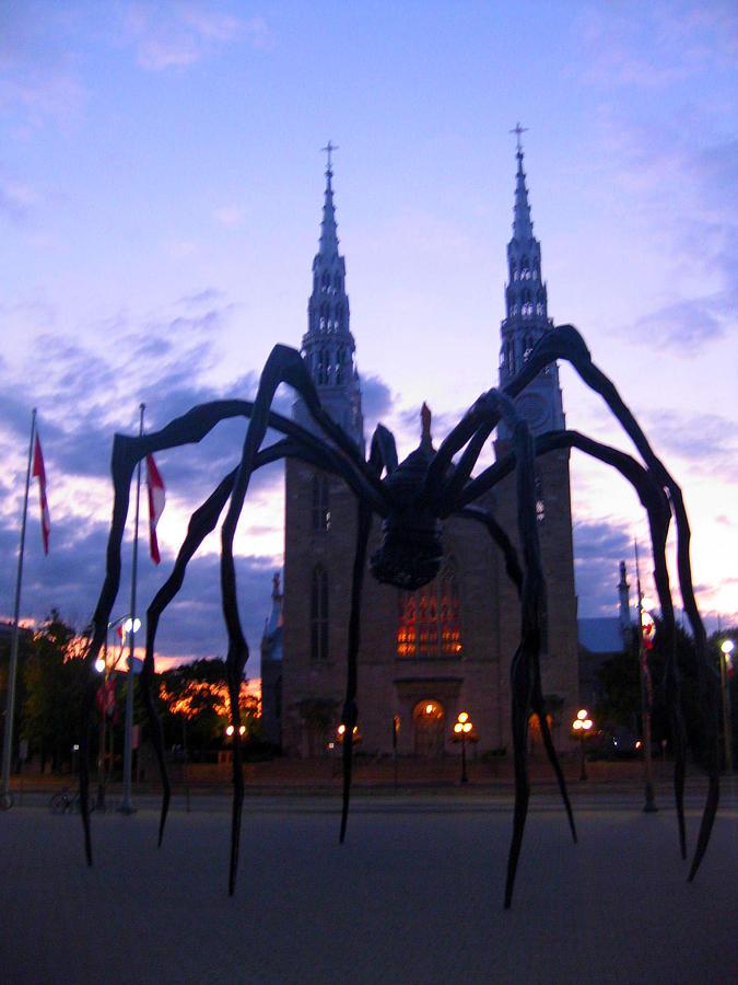 Church Photograph - Invasion Of The Black Spider by Mario Carini