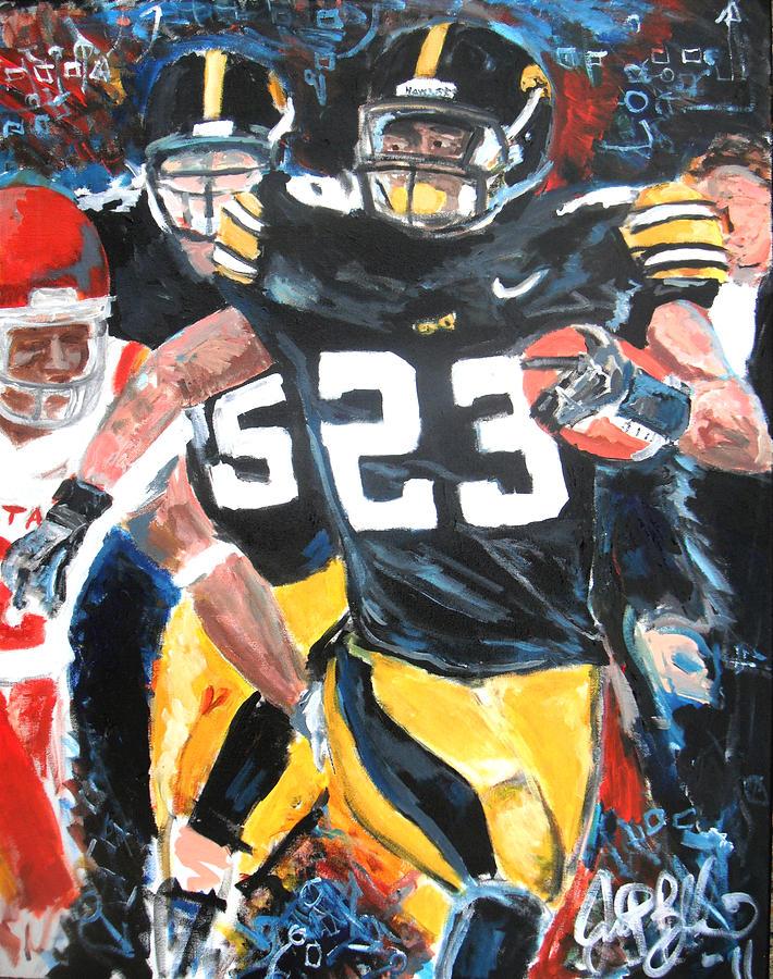 Greene Painting - Iowa Hawkeyes Offense  by Jon Baldwin  Art