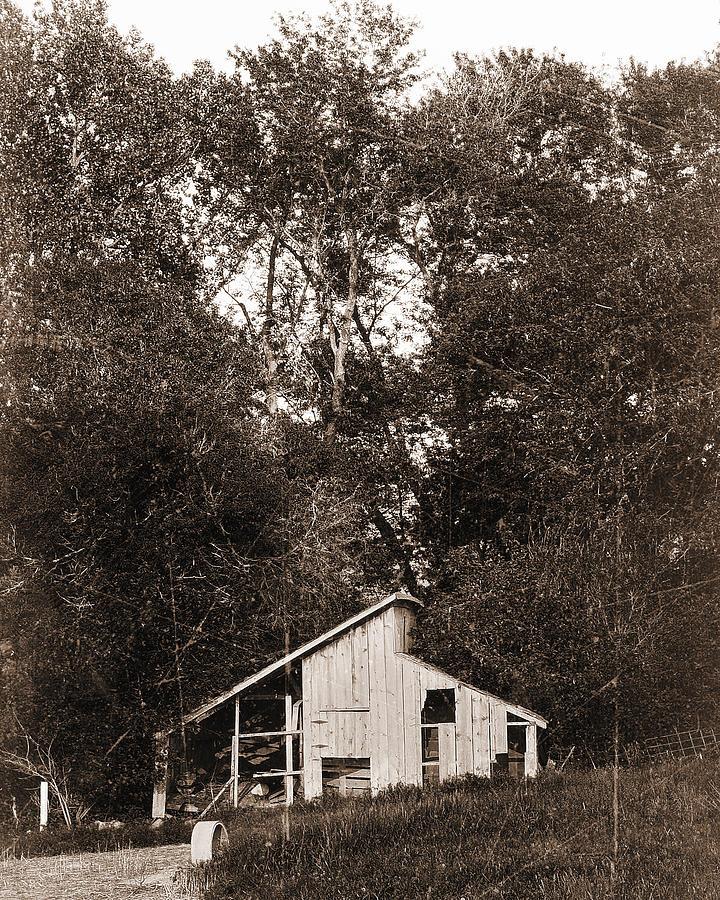 Shack Photograph - Iowa Shack by Sleepy Weasel