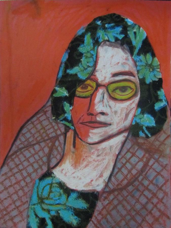 Portrait Painting - Iranian Grandmother by Molood Mazaheri