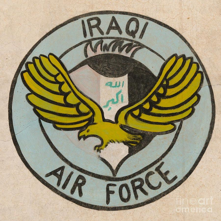 Iraqi Air Force Photograph - Iraqi Air Force Crest by Unknown