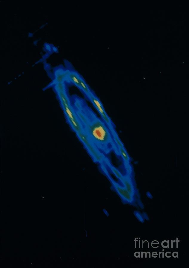 Andromeda Galaxy Photograph - Iras Infrared Image Of The Andromeda by NASA / Science Source
