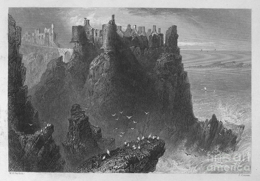 1840 Photograph - Ireland: Dunluce Castle by Granger