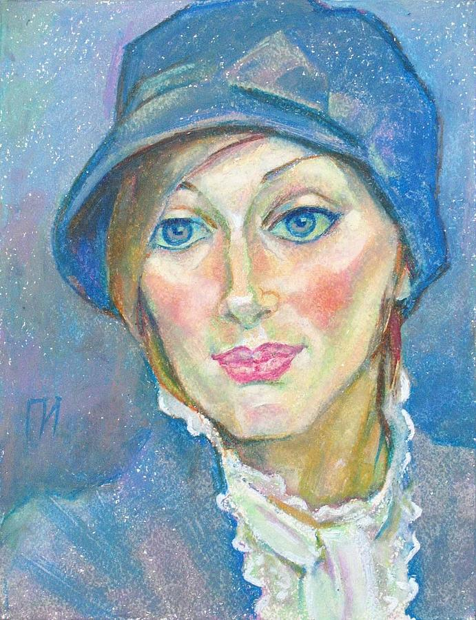 Paper Painting - Irina Bondareva by Leonid Petrushin