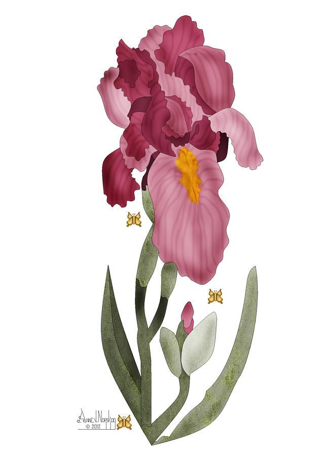 Realism Painting - Iris II In Full Color by Anne Norskog