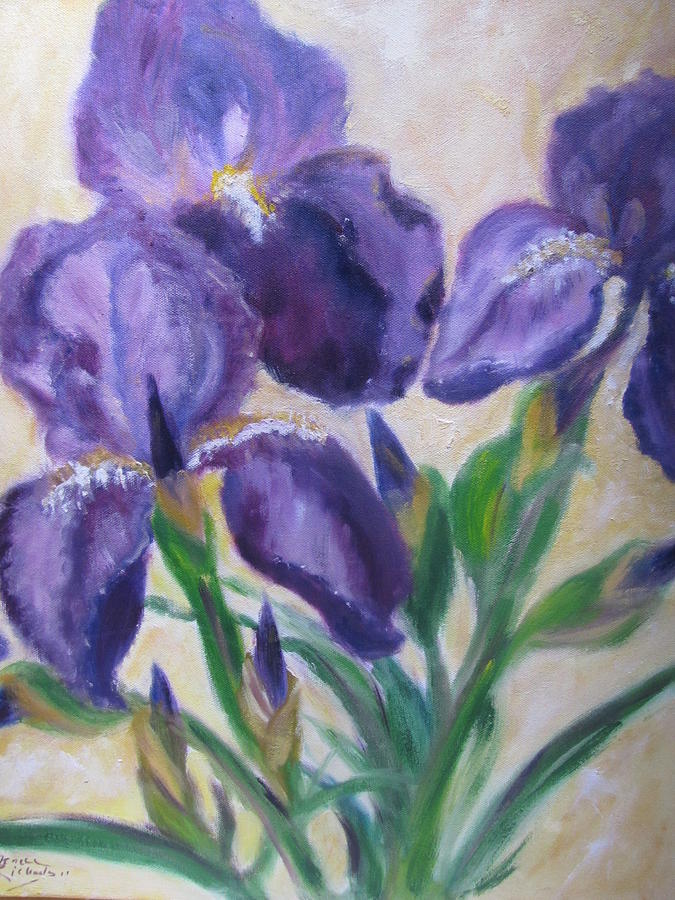 Flowers Painting - Iris by Jenell Richards