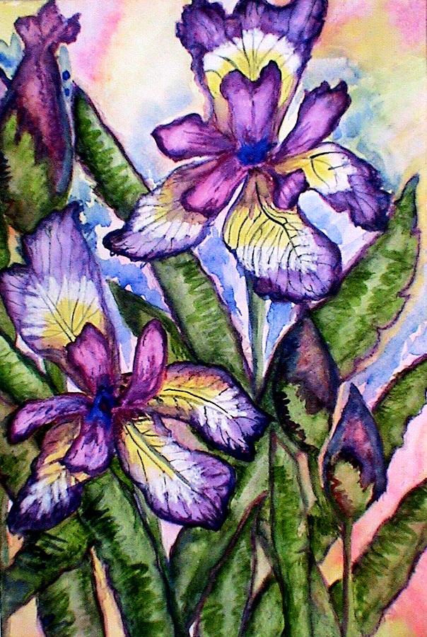 Iris Painting - Iris by Nadiya Kochura