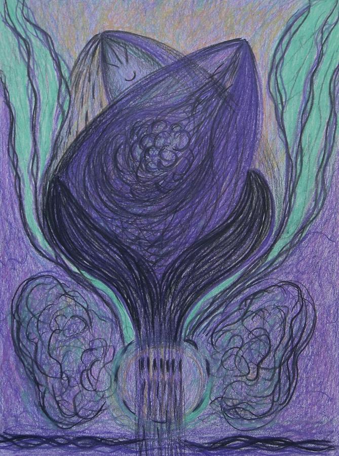 Iris Drawing - Iris Of The Sea by Elena Soldatkina