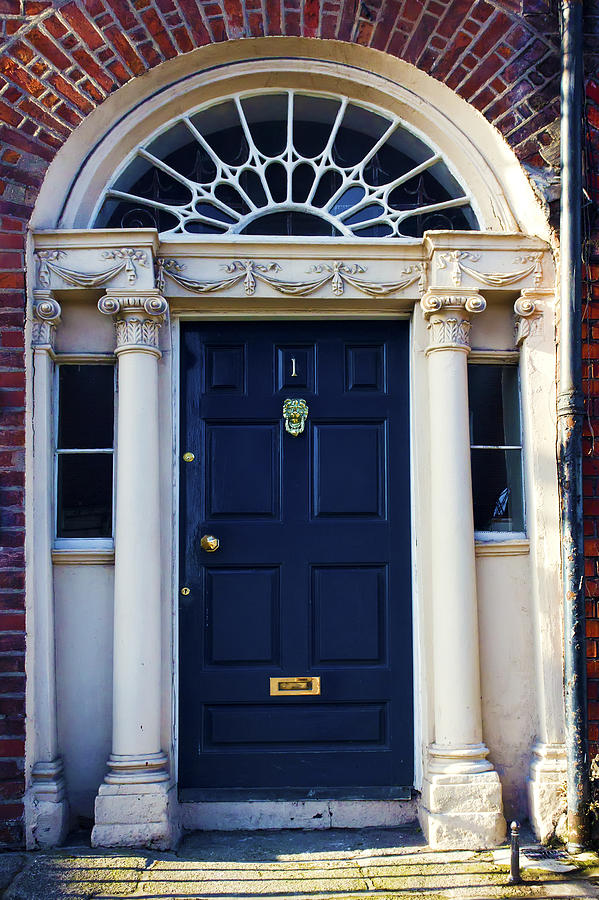 Antique Photograph - Irish Blue Door by Artistic Photos & Irish Blue Door Photograph by Artistic Photos