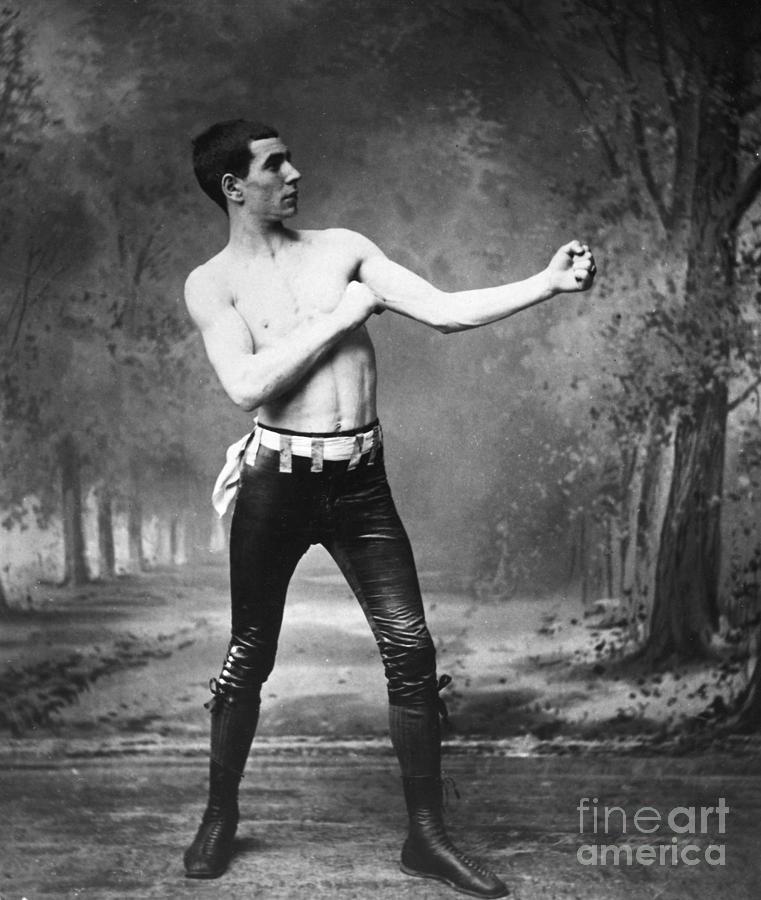 1890s Photograph - Irish Boxer, 1890s by Granger