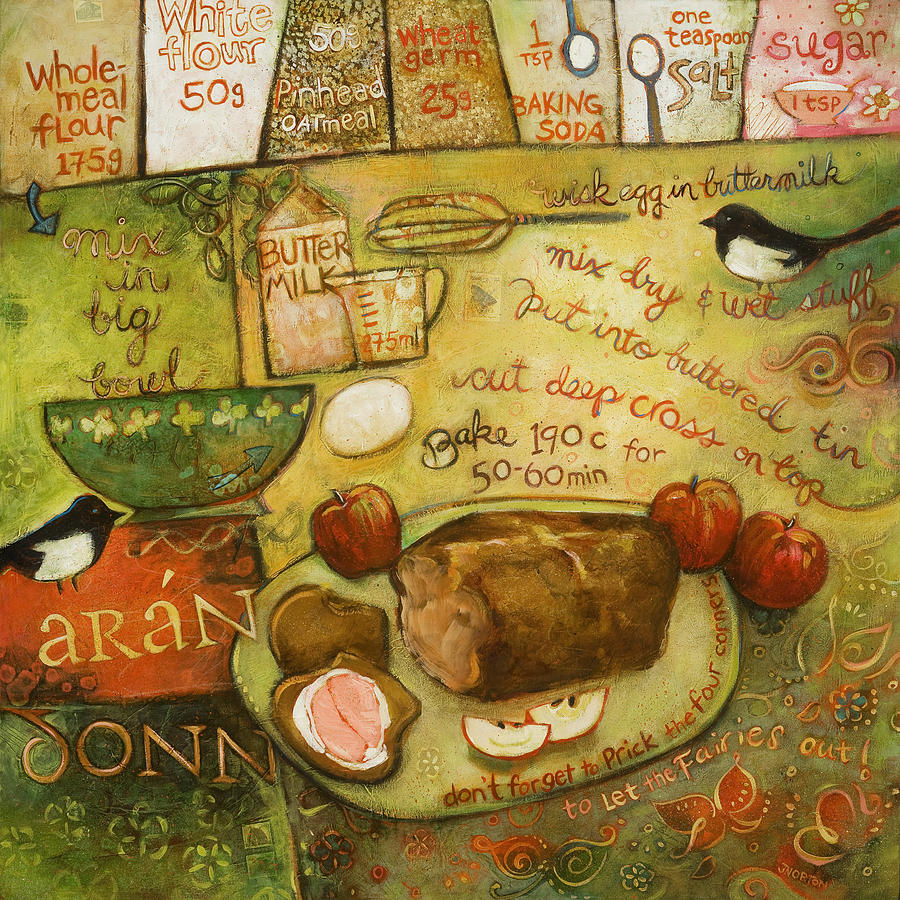 Painting Painting - Irish Brown Bread by Jen Norton