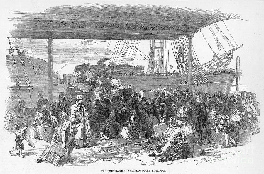 1850 Photograph - Irish Emigration by Granger