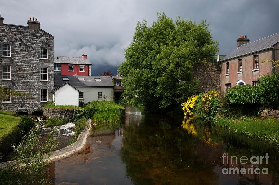 Island Painting - Irish Houses by Louise Fahy
