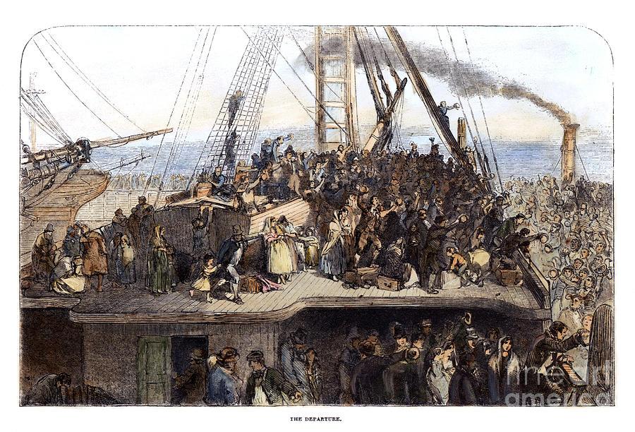 1850 Photograph - Irish Immigrants, 1850 by Granger