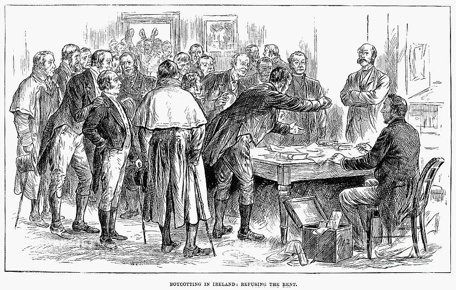 1886 Photograph - Irish Land League, 1886 by Granger